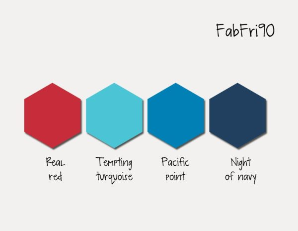 Stampin' Up! Color Inspiration: Real Red, Tempting Turquoise, Pacific Point, Night of Navy