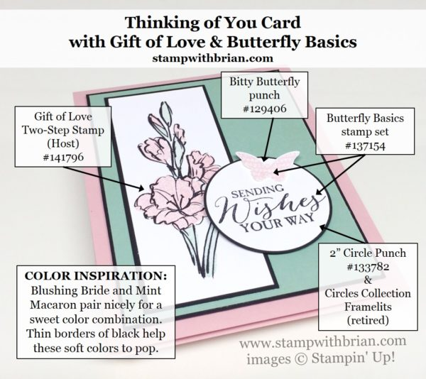 Gift of Love, Butterfly Basics, Stampin' Up!, Brian King, FMS239