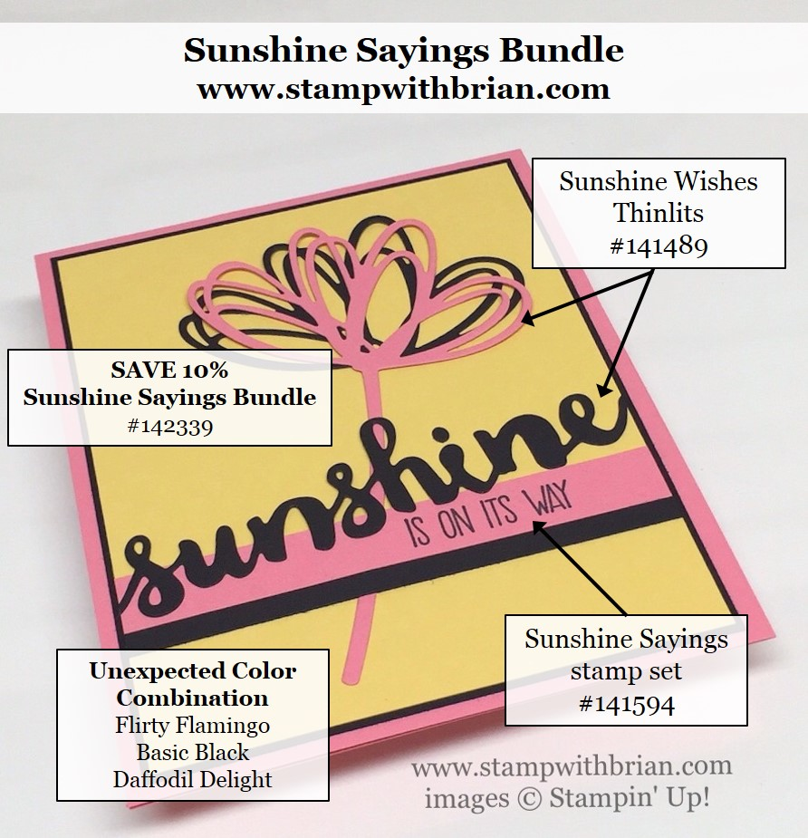 Sunshine Sayings, Sunshine Wishes Thinlits, Stampin' Up!, Brian King
