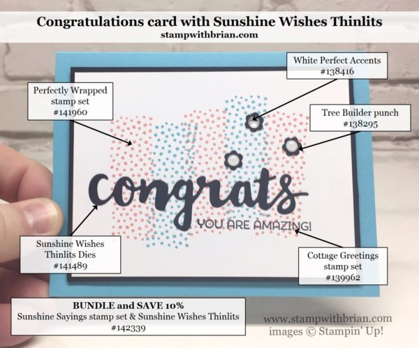 Sunshine Wishes Thinlits, Perfectly Wrapped, Cottage Greetings, Stampin' Up!, CTS#175