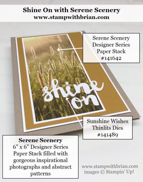 Sunshine Wishes Thinlits, Serene Scenery Designer Series Paper Stack, Stampin' Up!, Brian King, GDP040