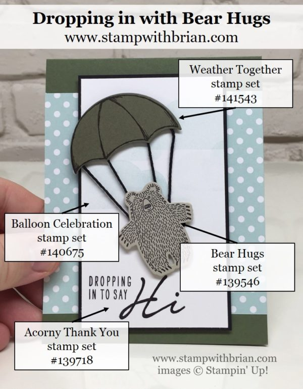 Bear Hugs, Weather Together, Acorny Thank You, Stampin Up!, Brian King