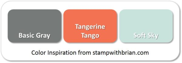 Stampin' Up! Color Inspiration: Basic Gray, Tangerine Tango, Soft Sky