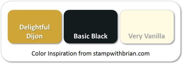 Stampin' Up! Color Inspiration: Delightful Dijon, Basic Black, Very Vanilla