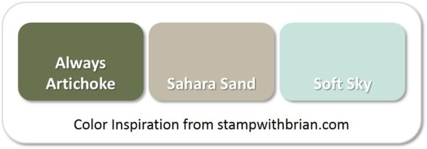 Stampin' Up! Color Inspiration: Always Artichoke, Sahara Sand, Soft Sky