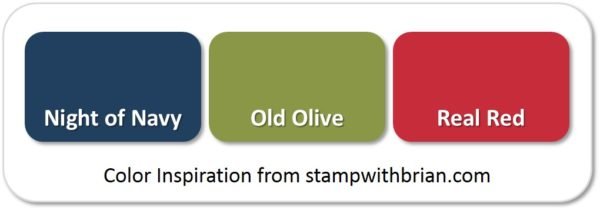 Stampin' Up! Color Inspiration: Night of Navy, Old Olive, Real Red