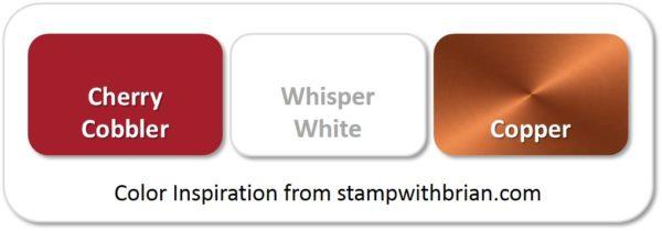 Stampin' Up! Color Inspiration: Cherry Cobbler, Whisper White, Copper