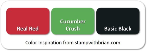 Stampin' Up! Color Inspiration: Real Red, Cucumber Crush, Basic Black