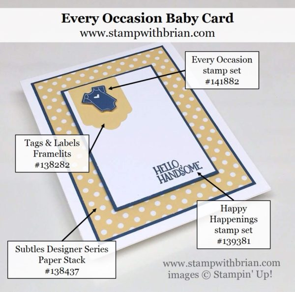 Every Occasion, Happy Happenings, Stampin' Up!, Brian King, GDP046