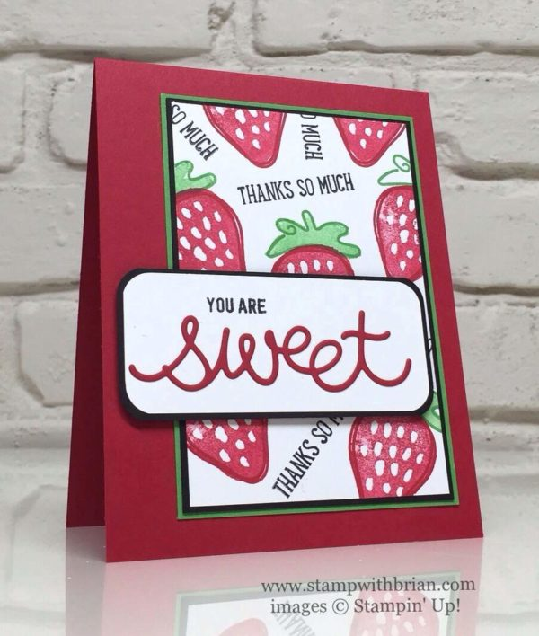 Fresh Fruit, Thoughtful Banners, Cupcake Cutouts Framelits, Stampin' Up!, Brian King