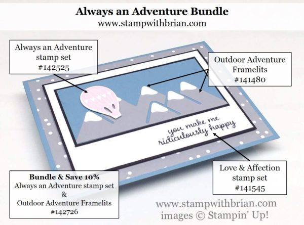 Outdoor Adventure Framelits, Love & Affection, Stampin' Up!, Brian King, PPA311