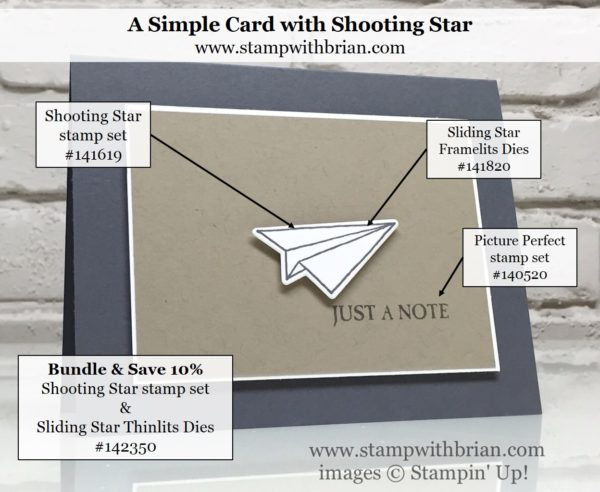 Shooting Star, Sliding Star Framelits, Picture Perfect, Stampin' Up!, Brian King