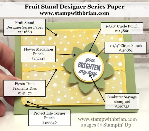 Sunburst Sayings, Fruit Stand Designer Series Paper, Stampin' Up!, Brian King