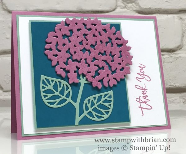 Thoughtful Branches, Stampin' Up!, Brian King, thank you card