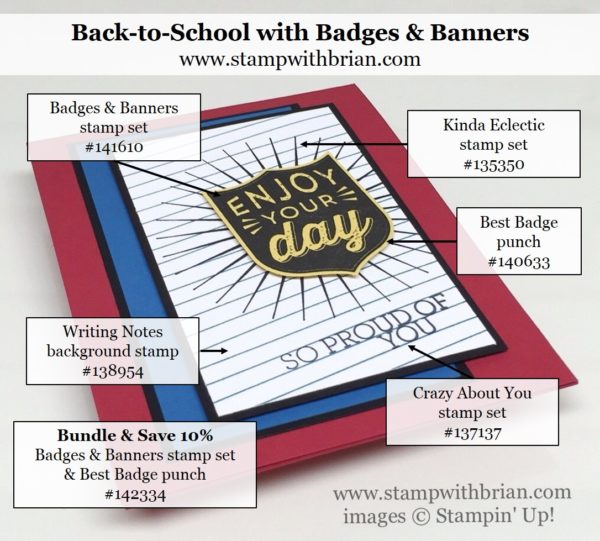 Badges & Banners, Best Badge Punch, Writing Notes, Kinda Eclectic, Stampin' Up!, Brian King, PP308