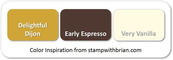 Stampin' Up! Color Inspiration: Delightful Dijon, Early Espresso, Very Vanilla