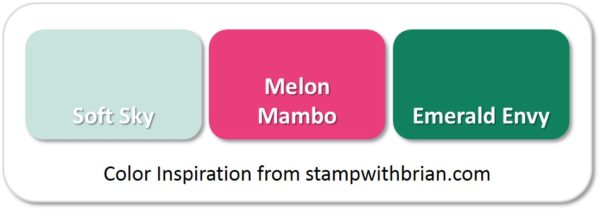 Stampin' Up! Color Combination: Soft Sky, Melon Mambo, Emerald Envy