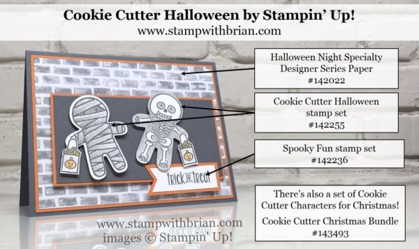 Cookie Cutter Halloween, Spooky Fun, Halloween Night Specialty Designer Series Paper, Stampin' Up!, Brian King