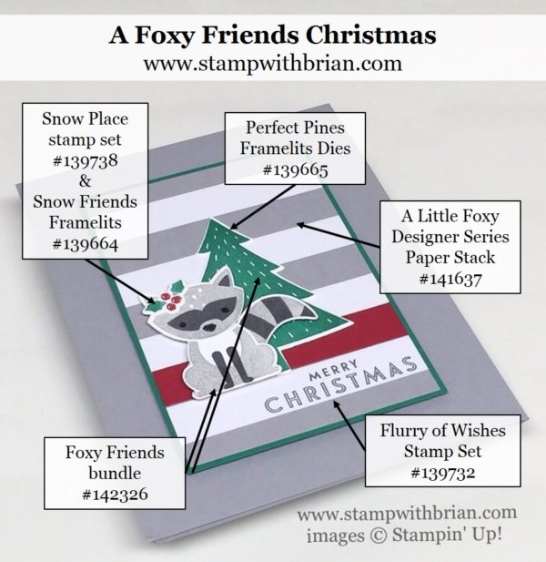 Foxy Friends, Fox Builder Punch, Flurry of Wishes, Stampin' Up!, Brian King, PPA312