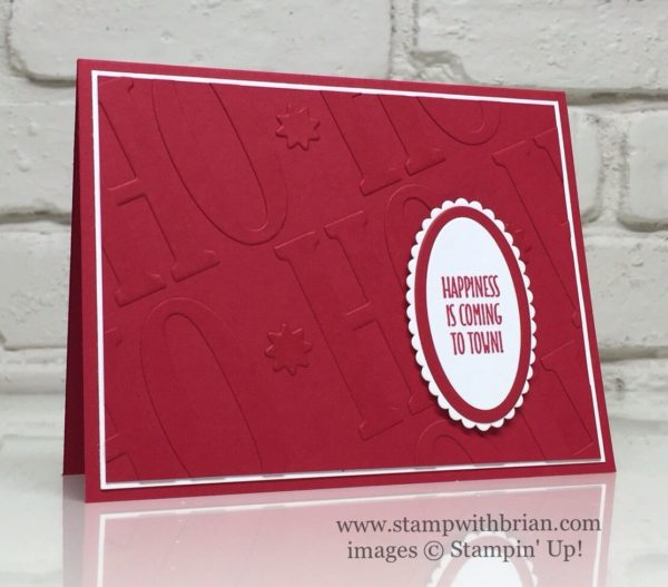 Hang Your Stocking, Large Letters Framelits, Layering Ovals Framelits, Stampin' Up!, Brian King, Christmas Card