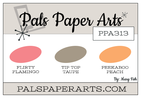 Stampin' Up! Color Inspiration: Flirty Flamingo, Tip Top Taupe, Peekaboo Peach
