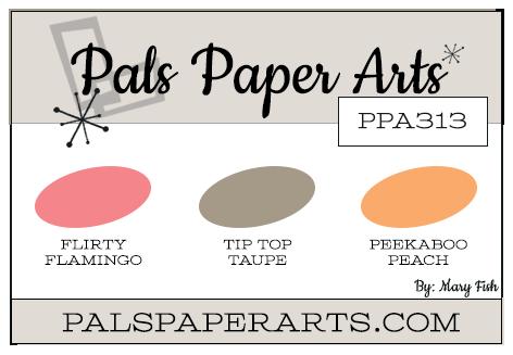 Stampin' Up! Color Inspiration: Flirty Flamingo, Tip Top Taupe, Peekaboo Peach
