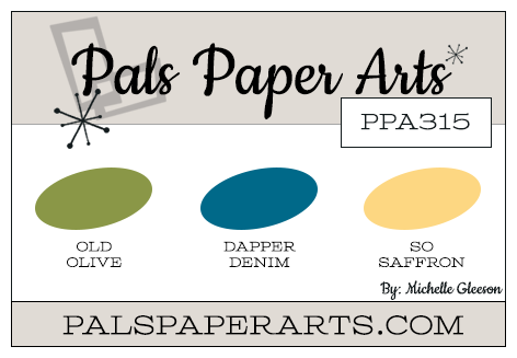 Stampin' Up! Color Inspiration: Old Olive, Dapper Denim, So Saffron