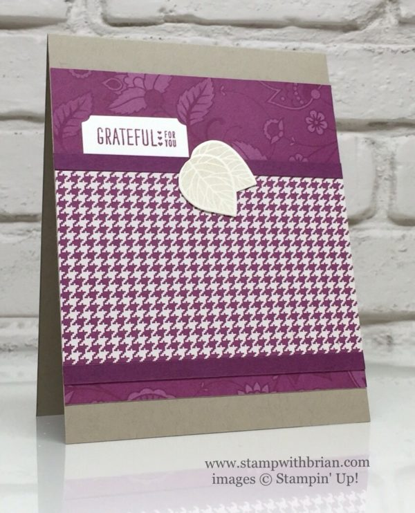 Petals & Paisleys Specialty Designer Series Paper, Acorny Thank You, Thoughtful Branches, Stampin' Up!, Brian King, GDP050