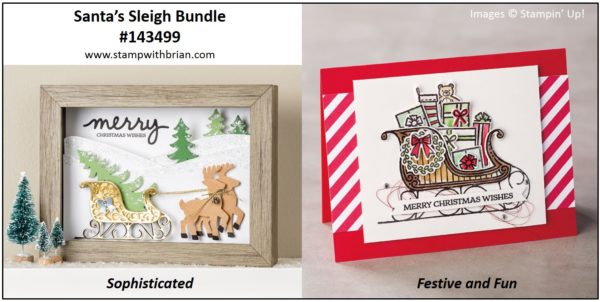 Santa's Sleigh Bundle, Stampin' Up!, Brian King
