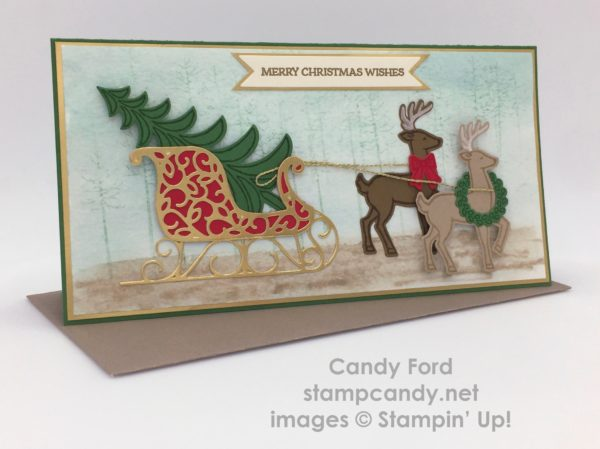 Santa's Sleigh, Stampin' Up!, by Candy Ford