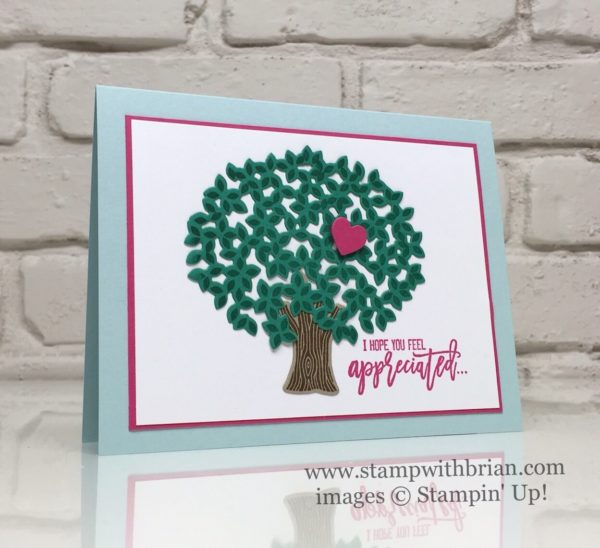 Thankful Branches, Stampin' Up!, Brian King, Thank you card