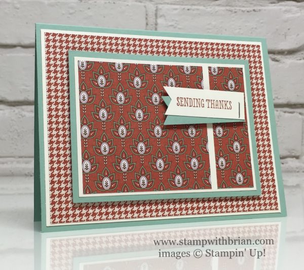 Thankful Thoughts, Petals & Paisleys Specialty Designer Series Paper, Stampin' Up!, Brian King, PP310