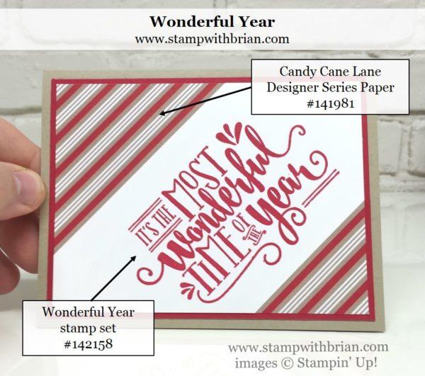 Wonderful Year, Candy Cane Lane Designer Series Paper, Stampin' Up!, Brian King