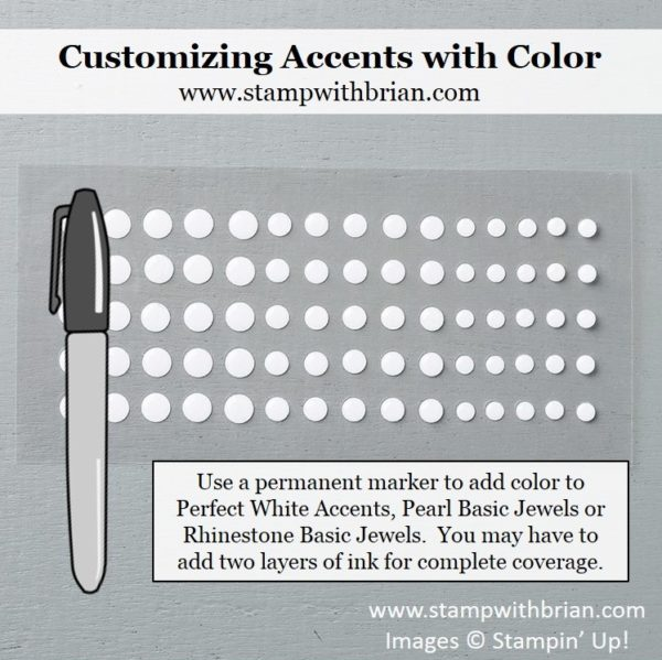 Color Perfect White Accents with a permanent marker, Stampin' Up!, Brian King