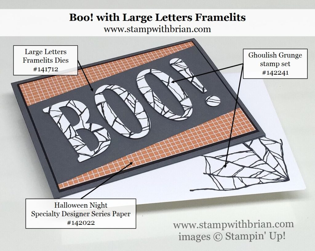 Ghoulish Grunge, Large Letters Framelits, Stampin' Up!, Brian King, Halloween card