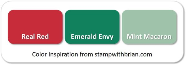Stampin' Up! Color Inspiration: Real Red, Emerald Envy, Mint Macaron
