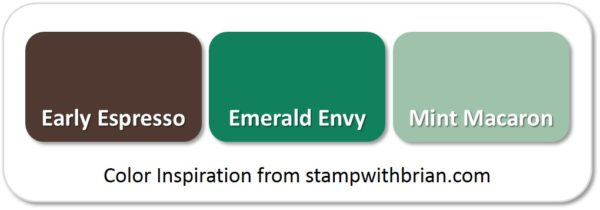 Stampin' Up! Color Inspiration: Early Espresso, Emerald Envy, Mint Macaron