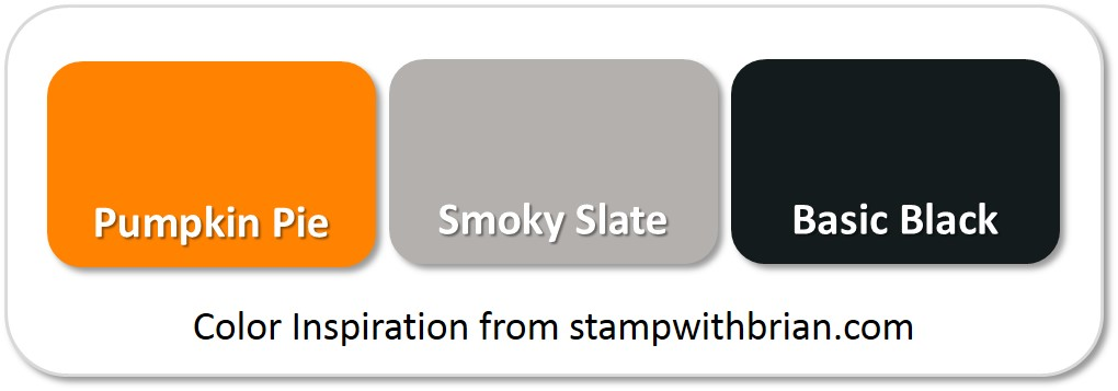 Stampin' Up! Color Inspiration: Pumpkin Pie, Smoky Slate, Basic Black