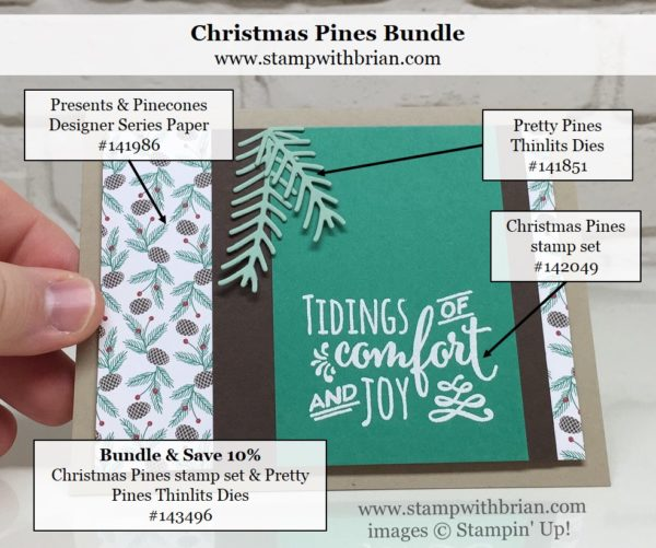Christmas Pines, Stampin' Up!, Brian King