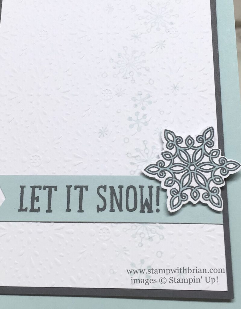 Flurry of Wishes, Snow Place, Perpetual Birthday Calendar, Stampin' Up!, Brian King
