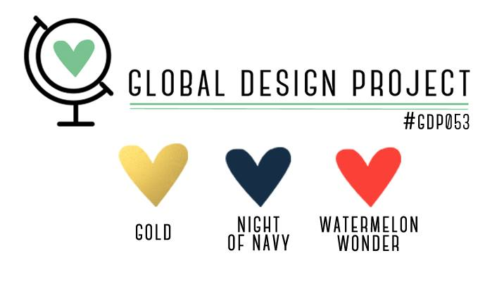 Stampin' Up! Color Inspiration: Gold, Night of Navy, Watermelon Wonder