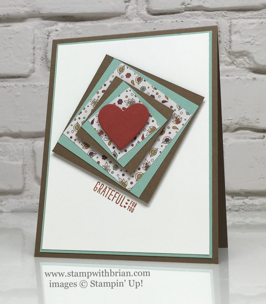 Acorny Thank You, Petals & Paisleys Specialty Designer Series Paper, Stampin' Up!, Brian King, CTS#191