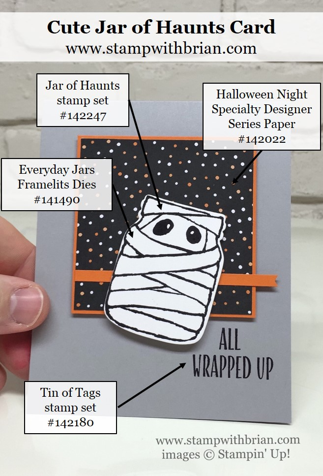 Jar of Haunts, Tin of Tags, Stampin' Up!, Brian King