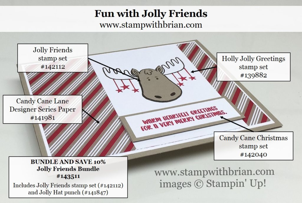 Jolly Friends, Candy Cane Christmas, Stampin' Up!, Brian King, PP314