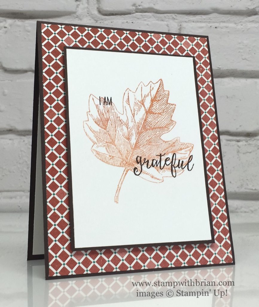 Vintage Leaves, Grateful Bunch, Stampin' Up!, Brian King, CTS#190