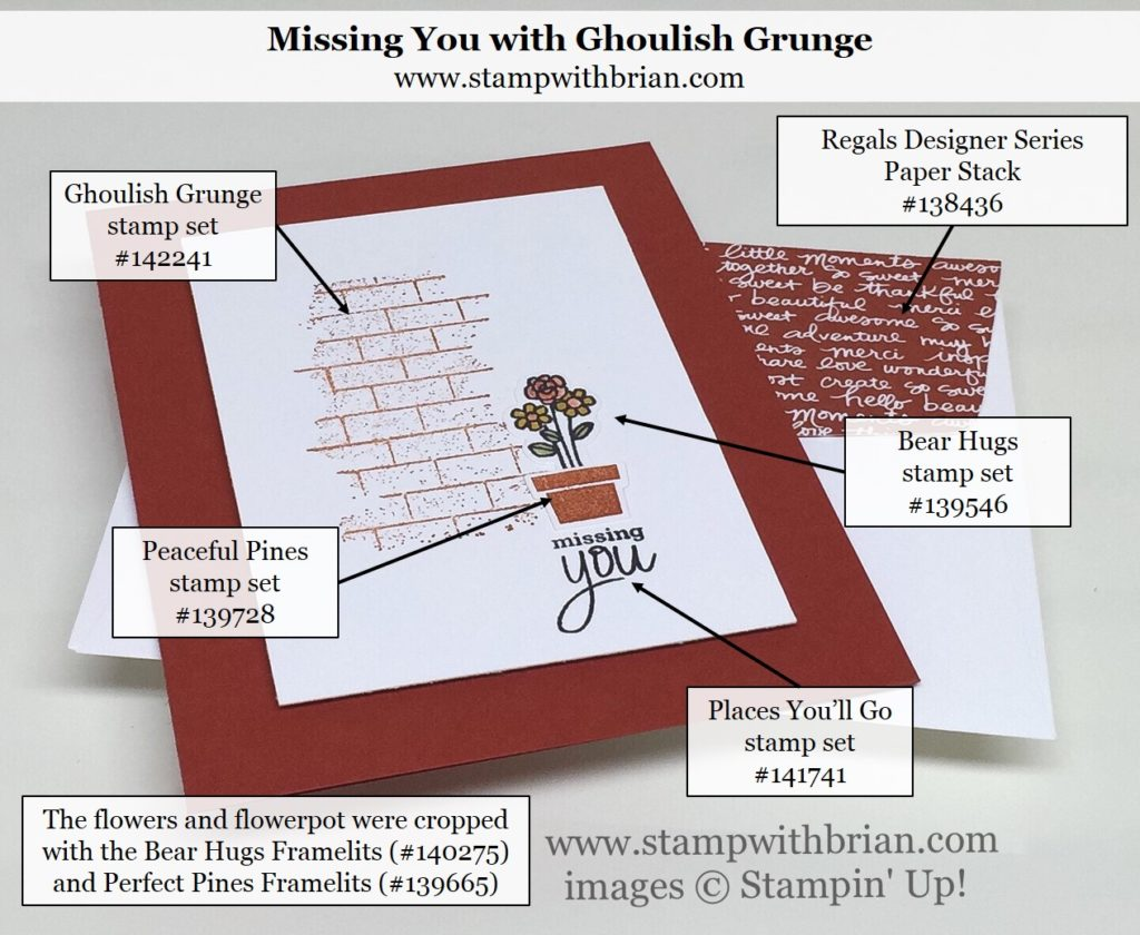 Ghoulish Grunge, Bear Hugs, Peaceful Pines, Places You'll Go, Stampin' Up!, Brian King
