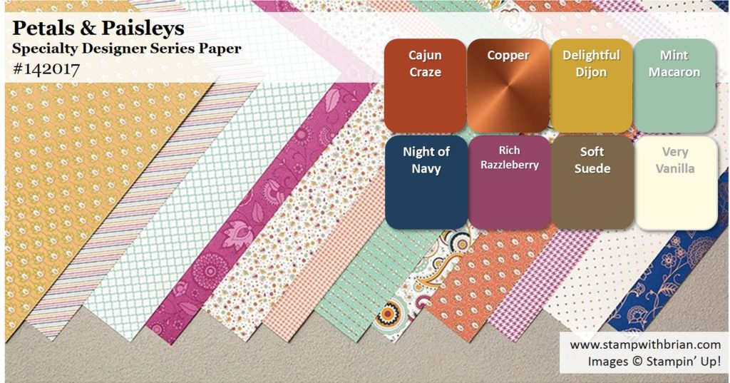 Petals & Paisleys Specialty Designer Series Paper, Stampin' Up!