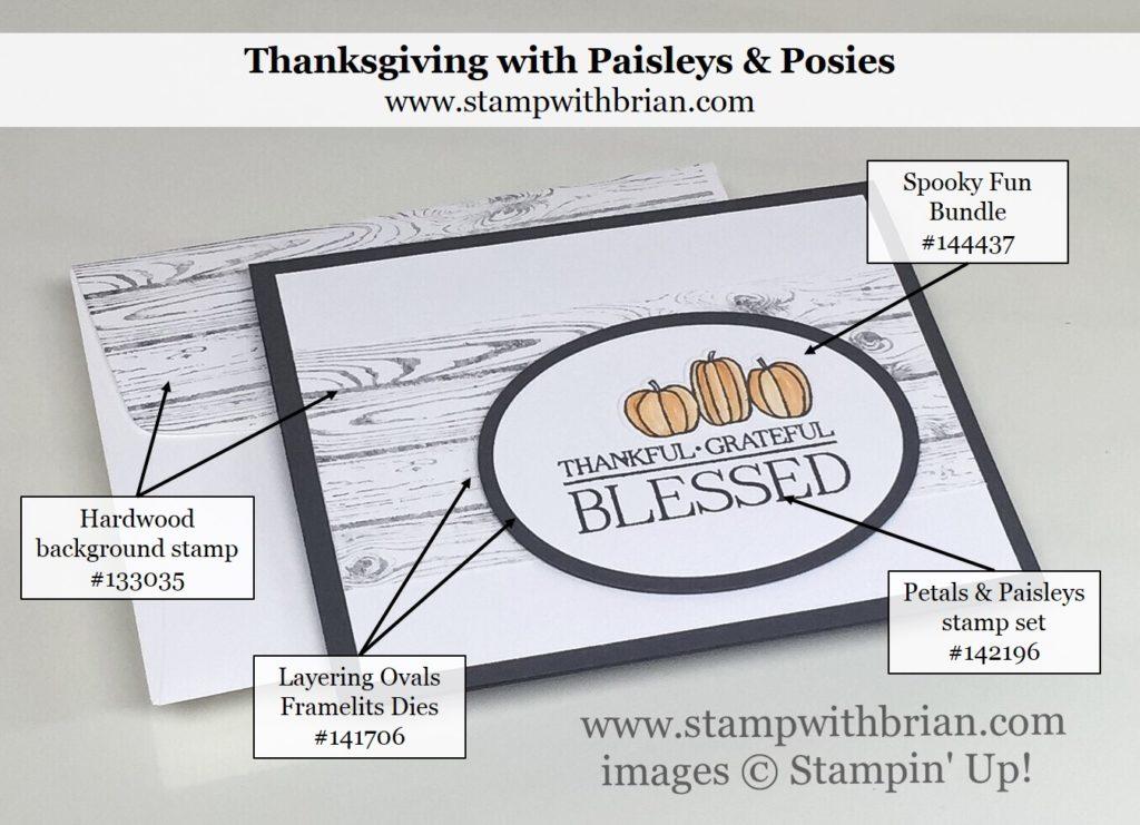 Paisleys & Posies, Spooky Fun, Hardwood, Stampin' Up!, Brian King, PP313