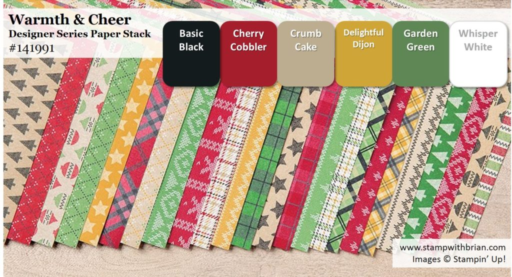 Warmth & Cheer Designer Series Paper Stack, Stampin' Up!