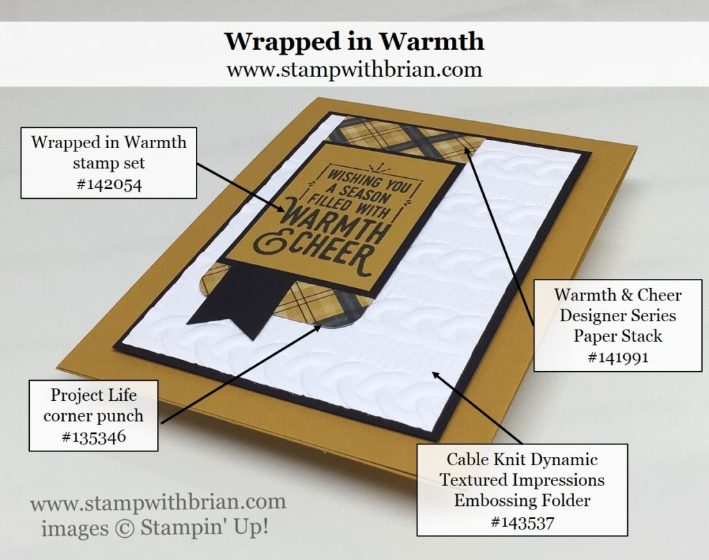 Wrapped in Warmth, Cable Knit Dynamic TIEF, Stampin' Up!, Brian King, MM#214, GDP#054
